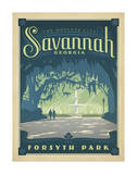 Forsyth Park, Savannah, Georgia Posters par  Anderson Design Group