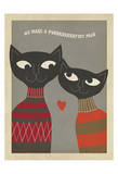 Cats Purrfect Pair Print by  Anderson Design Group