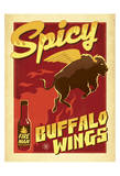 Spicy Buffalo Wings Prints by  Anderson Design Group