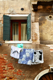 Clothes Dry Outdoor in Venice, Italy Photographic Print by  Zoom-zoom