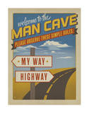 Welcome to the Man Cave Print by  Anderson Design Group