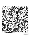 Party of Life Invitation, 1986 Pôsters por Keith Haring