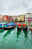 Gondolas on Grand Canal, Venice, Italy Photographic Print by  Zoom-zoom