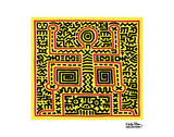 Untitled, 1983 (abstract figure) Prints by Keith Haring