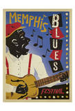 Memphis Blues Festival Prints by  Anderson Design Group