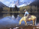 Colorado Cowboy Poster by Jack Sorenson