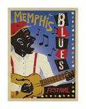 Memphis Blues Festival Posters by  Anderson Design Group
