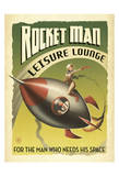 Rocket Man Leisure Lounge Print by  Anderson Design Group