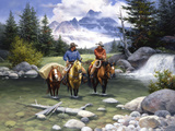 Clear Water Crossing Premium Giclee Print by Jack Sorenson