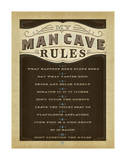 Man Cave Rules Prints by  Anderson Design Group