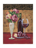 Vintage Flowers and Wine I Affiches par Carolee Vitaletti