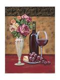 Vintage Flowers and Wine I Affiches par Carolee Vitaletti