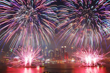 NEW YORK CITY - JUL 4: New York City Manhattan Independence Day Firework Show in Hudson River as An Photographic Print by Songquan Deng