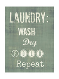 Wash, Dry, Fold IV Premium Giclee Print by Amy Lighthall