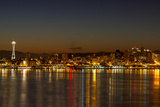 Seattle Downtown Skyline Reflection at Dawn Photographic Print by  jpldesigns