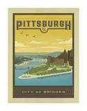 Pittsburgh, City of Bridges Print by  Anderson Design Group