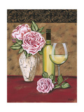 Vintage Flowers and Wine II Posters by Carolee Vitaletti
