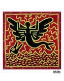 Untitled, 1982 (mermaid with dolphin) Art by Keith Haring