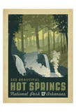 Hot Springs National Park, Arkansas Print by  Anderson Design Group