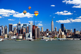 The Mid-Town Manhattan Skyline on A Sunny Day Posters by  Gary718