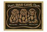 Proper Man Cave Etiquette Print by  Anderson Design Group