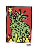 Statue of Liberty, 1986 Láminas por Keith Haring