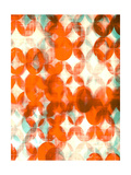 Overlapping Teal and Orange I Lámina giclée de primera calidad por Amy Lighthall