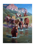 The Crossing Premium Giclee Print by Jack Sorenson