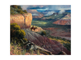 Camp Along the Timbercreek Premium Giclee Print by Jack Sorenson