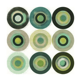 Green Circles I Premium Giclee Print by Amy Lighthall