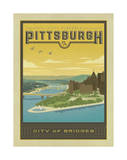 Pittsburgh, City of Bridges Posters by  Anderson Design Group