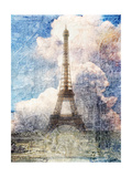 Distressed Eiffel Tower Poster by  Roozbeh