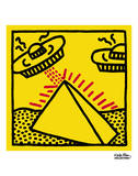 Untitled, 1984 (pyramid with UFOs) Posters por Keith Haring