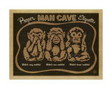 Proper Man Cave Etiquette Prints by  Anderson Design Group