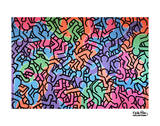 Untitled, 1985 (figures) Posters by Keith Haring