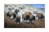 Thunder in the Dust Premium Giclee Print by Jack Sorenson