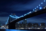 Brooklyn Bridge and Manhattan Skyline at Night Lights, NYC Poster by  Zigi