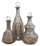 Kozani Etched Glass Decanter Set Home Accessories