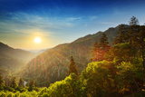 Sunset at the Newfound Gap in the Great Smoky Mountains. Photographic Print by  SeanPavonePhoto