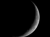 Thin Crescent Moon Photographic Print by David Woods