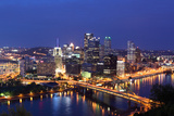 Pittsburgh's Skyline from Mount Washington at Night Photographic Print by  Zigi