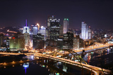 Pittsburgh's Skyline from Mount Washington at Night. Prints by  Zigi