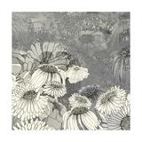 Flowers on Grey II Premium Giclee Print by Ingrid Blixt