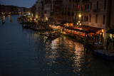 Grand Canale from Rialto Bridge at Blue Hour, Venice, Italy Photographic Print by  PH.OK