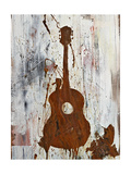 Rust Guitar Premium Giclee Print by Kent Youngstrom