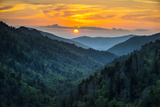 Gatlinburg Tn Great Smoky Mountains National Park Scenic Sunset Landscape Stampa fotografica di  daveallenphoto