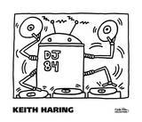 DJ 84, 1983 Posters af Keith Haring
