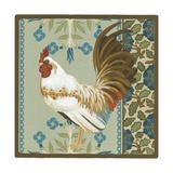 Cottage Rooster III Giclée-Premiumdruck von Erica J. Vess