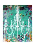 Emerald Chandelier Poster by Kent Youngstrom