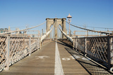 Bike and Pedestrian Lanes on the Brooklyn Bridge Prints by  p.lange